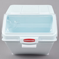 Rubbermaid FG9G5800WHT 12.6 Gallon ProSave Shelf Ingredient Storage Bin with 2 Cup Scoop