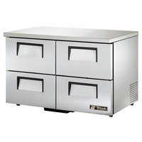 True TUC-48D-4-LP-HC 48 inch Low Profile Undercounter Refrigerator with Four Drawers