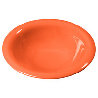 Carlisle 3303652 7 1/4 inch Sunset Orange Sierrus 12 oz. Rimmed Bowl - 24 / Case