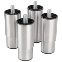 Manitowoc K-00350 6 inch - 7 3/4 inch Adjustable Stainless Steel Bin Legs - 4/Set
