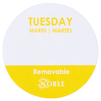 Noble Products Tuesday 1 inch Removable Day of the Week Dot Label - 1000/Roll