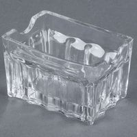 Tablecraft H121 3 1/4 inch Fluted Glass Sugar Caddy - 12 / Pack
