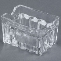 Tablecraft H121 3 1/4 inch Fluted Glass Sugar Caddy - 12/Pack