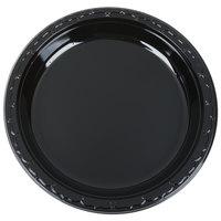 Genpak BLK10 Silhouette 10 1/4 inch Black Premium Plastic Plate   - 400/Case
