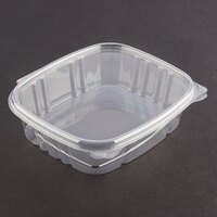 D&W Fine Pack VH08P VersaPak 8 oz. Recyclable Square Hinged Take Out Deli Container 200/Case