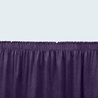 National Public Seating SS24-48 Navy Shirred Stage Skirt for 24 inch Stage - 23 inch x 48 inch