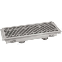 Advance Tabco FTG-1896 18 inch x 96 inch Floor Trough with Stainless Steel Grating