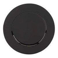 Tabletop Classics TR-6658 13 inch Black Round Acrylic Charger Plate