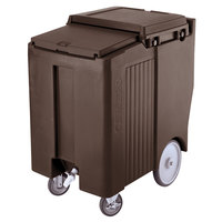 Cambro ICS175TB131 Dark Brown Sliding Lid Portable Ice Bin - 175 lb. Capacity Tall Model