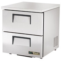 True TUC-27D-2-HC-LP 27 inch Low Profile Undercounter Refrigerator with Two Drawers