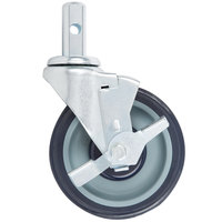 Regency 5 inch Polyurethane Swivel Stem Caster With Brake
