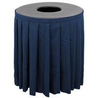 Buffet Enhancements 1BCTV32SET Black Round Topper with Navy Skirting for 32 Gallon Trash Cans