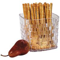 Carlisle 35607 3 Qt. SAN Plastic Serving Basket 6 1/2 inch x 6 inch 6 / Case