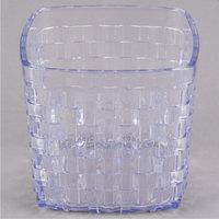 Carlisle 35607 3 Qt. SAN Plastic Serving Basket 6 1/2 inch x 6 inch - 6/Case