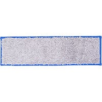 Unger DD40B SmartColor Blue Dry / Damp 13.0 Mop Pad - 19 1/2 inch