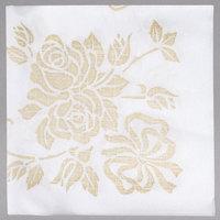 Hoffmaster 125046 17 inch x 17 inch Gold Prestige 1/4 Fold Linen-Like Dinner Napkin - 300 / Case