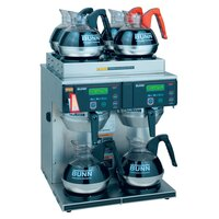 Bunn Axiom 4/2 Twin 12 Cup Automatic Coffee Brewer with 4 Upper and 2 Lower Warmers - 120/208-240V (Bunn 38700.0014)