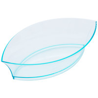 Fineline Tiny Temptations 6207-GRN 4 1/4 inch x 2 1/4 inch Tiny Treasures Disposable Green Plastic Tray - 200/Case