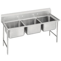 Advance Tabco 9-23-60 Super Saver Three Compartment Pot Sink - 74 inch