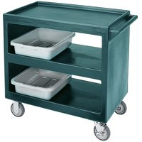 Cambro BC2354S Granite Green Three Shelf Service Cart - 37 1/4 inch x 21 1/2 inch x 34 5/4 inch