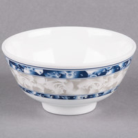 Blue Dragon 9 oz. Round Melamine Rice Bowl - 12/Case