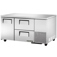 True TUC-60-32D-2 60 inch Deep Undercounter Refrigerator with One Door and Two Drawers