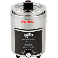 Star 4RW-4H 4 Qt. Stainless Steel Food Warmer with Notched / Hinged Cover and Inset - 120V, 800W
