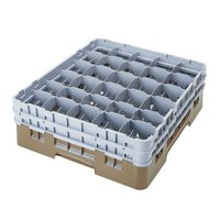 Cambro 30S1114184 Beige Camrack 30 Compartment 11 3/4 inch Glass Rack