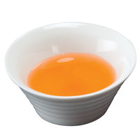American Metalcraft SBR11 1.5 oz. White Round Ribbed Porcelain Sauce Cup