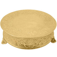 Tabletop Classics ACG-88518 18 inch Ornate Gold Plated Round Cake Stand