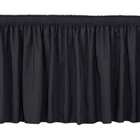 National Public Seating SS24-48 Black Shirred Stage Skirt for 24 inch Stage - 23 inch x 48 inch