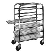 Winholt AL-126 End Load Aluminum Platter Cart - Six 12 inch Trays