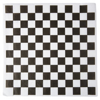 Choice 12 inch x 12 inch Black Check Deli Sandwich Wrap Paper - 5000 / Case