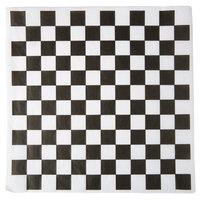 Choice 12 inch x 12 inch Black Check Deli Sandwich Wrap Paper - 5000/Case