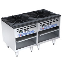 Bakers Pride Restaurant Series BPSP-18-3-D Natural Gas Two Burner Stock Pot Range