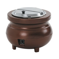 Vollrath 72166 Colonial 11 qt. Antique Copper Kettle Soup Warmer / Merchandiser - 120V, 700W