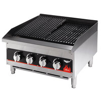 Vollrath 407312 Cayenne 36 inch Medium Duty Charbroiler - 120,000 BTU