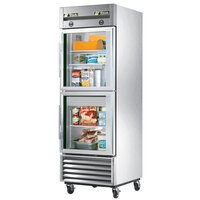 True T-23DT-G One Section Dual Temp Reach In Combination Refrigerator / Freezer with Glass Doors