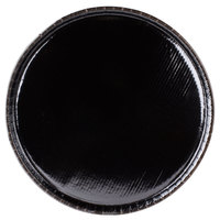Solut 65055 18 inch Coated Corrugated Black Catering / Deli Tray - 50/Case