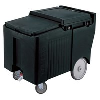 Cambro ICS175LB110 Black Sliding Lid Portable Ice Bin - 175 lb. Capacity