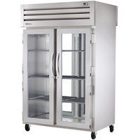 True STR2RPT-2G-2G Specification Series Two Section Pass-Through Refrigerator for Two Glass Front and Rear Doors - 56 Cu. Ft.