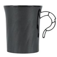 WNA Comet CWM8192BK Classicware 8 oz. Black Plastic Coffee Cup - 8/Pack