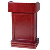 Aarco Hostess Podium with Cherry Finish