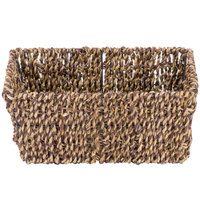 Hoffmaster BSK2151 Seagrass Wicker Guest Towel Basket / Holder
