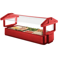 Cambro 5FBRTT158 64 inch x 33 inch x 27 inch Red Table Top Food / Salad Bar