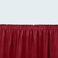 National Public Seating SS32-96 Burgundy Shirred Stage Skirt for 32 inch Stage - 31 inch x 96 inch