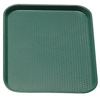 Cambro 1216FF119 12 inch x 16 inch Sherwood Green Customizable Fast Food Tray - 24 / Case