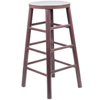 Lancaster Table & Seating 30 inch Metal Woodgrain Barstool with Dark Finish