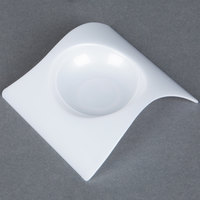 Fineline Tiny Temptations 6204-WH 2 3/4 inch x 2 3/4 inch Tiny Teasers Disposable Plastic Tray - White 200 / Case