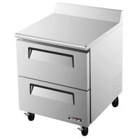 Turbo Air TWF-28SD-D2 28 inch Super Deluxe Two Drawer Worktop Freezer - 7 cu. ft.
